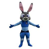 Wholesale Nouvelle Zootopia mascotte Costume agent Judy Hopps lapin mascot Nick Fox Costume de mascotte faits sur mesure