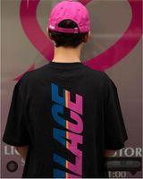 Wholesale PALACE STRIPE FONT T SHIRT Fashion suprem t shirts Hip Hop Palace Tee O neck Short Sleeve Palace Skateboard T Shirt
