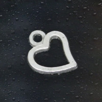 Wholesale HOT Fashion heart Charms Tibetan Silver Plated Jewelry DIY for Pandora Bracelet Necklace Pendant mm