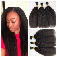 Wholesale 8A Top Quality Unprocessed Peruvian Human Braiding Hair Bulk No Weft Kinky Straight Human Hair For Braiding