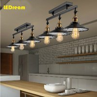 antique dinning - American Countryside Antique Celing Lamp Vintage Ceiling Light Loft Industrial Home Lighting With Edison Bulbs for Dinning Room