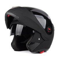 Wholesale Motorcycle helmets male semi helmet double lens full helmet covered winter seasons exposed helmet