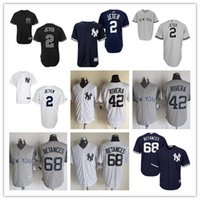 Wholesale Men s New York Yankees Derek Jeter Mariano Rivera Cool Base Jerseys Mariano Rivera Gray White Official Cool Base Player Baseball