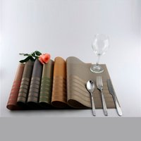Wholesale Dining Table PVC Placemats With New Crossed Grid Waterproof Teslin Heat Insulated Disc Pads For Home And Restaurant