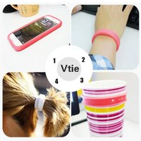 band iphone covers - Multifunctional silica gel mobile phone cover For Iphone Case Wrist Ring Hair band