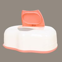 Wholesale Carro Real Tissue Case Baby Wipes Box Plastic Wet Tissue Automatic Case Care Accessories Press Pop up Design