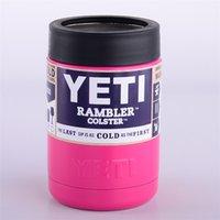 achat en gros de gros peuvent refroidisseurs-2017 Vente en gros 12 oz dix couleurs Colster peut Yeti Coolers Rambler Colster YETI Voitures Tasse de bière isolé Koozie Cups Drinkware 12 oz
