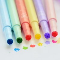Wholesale Cute Highlighters Pens Marker watercolors Sketch Hand painted pen Special Pattern Colorful Pen