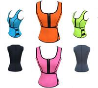 Wholesale New Designed Neoprene Body Shaper Women Sports Suit Ultra Sweat Workout Waist Tummy Cincher Vest modeling strap shaper Waist Training Corset