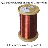 Wholesale MM MM Many Size gram roll Polyester Enameled Copper wire Magnetic Coil Winding QZ Red Magnet Wire