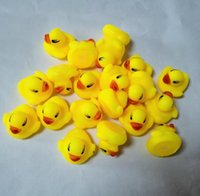 Wholesale High Quality Baby Bath Water Duck Toy Sounds Mini Yellow Rubber Ducks Kids Bath Small Duck Toy Children Swiming Beach Gifts truelovewangwu