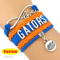 athletic bracelets - Infinity Love Florida Gators Athletic Team Bracelet Blue Orange Cheer bracelets Women Men Girl Lady Jewelry Gift Custom Drop Shipping