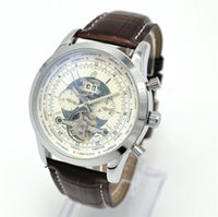 bf shipping - BF Automatic Mechanical Men s Watches AAA Five pin Calendar Tourbillon Men COOL Leather Wrist Watch