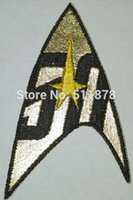 baseball emblems - Star Trek Command Insignia Years Gold Yellow patch Movie TV Series Costume Cosplay Embroidered Emblem Baseball Cap Badge