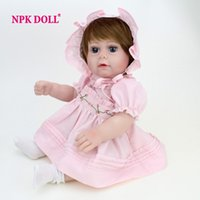 baby girl face - Silicone Reborn Baby Doll Full Body Silicone Cute Gift For Girls inch Princess Doll Baby Face Reborn Full Vinyl Dolls On Sale