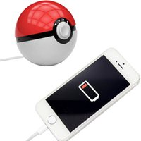 banks products - Hot products new facshion creative cartoon mah poke ball power bank USB LED Battery Charger