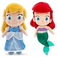 baby mermaid games - Princess doll cinderella Mermaid Plush Toys cm dolls kids toys dolls for girls brinquedos baby toy