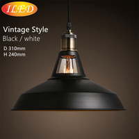 american savings - 2016 new Industrial retro style Art Pendant light black white Edison light bulb American village lamps Hanging Lamps luminaries
