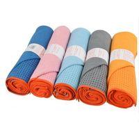 Wholesale High qualiy Yogitoes eco silicone yoga towel Nonslip Skidless Yoga Mat Towel