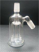 Clear Mini Bubbler Cendrier en verre Inline Percolator Water Pipe Oil Rig Bong La meilleure qualité