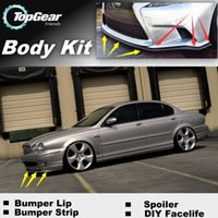 Wholesale Bumper Lip Lips For Jaguar S Type S Type Front Skirt Deflector Spoiler For Car Tuning The Stig Recommend Body Kit Strip
