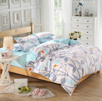 Wholesale Cheap Grass Printed Comforter White Plain Bedlinen Cozy Cotton Bedding Sets Or Bed Sheets