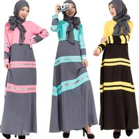 beautiful islamic clothing - 2016 Young ladies beautiful islamic clothing fashion patched design dubai kaftan maxi muslim turkish kaftan dress