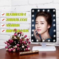 Wholesale 20LED Travel Desktop Makeup Mirror Square led Mirror