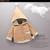 baby girl wool coat - New winter children to years old baby fashion faux suede compound fruit color lambs wool inside fan lovely fashion small coat