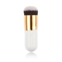 Wholesale AAA Woodden Foundation Makeup Brushes White Chubby Pier Foundation Brush Flat Brush Mushroom Star Exquiste Foundation Brush Hot Tech