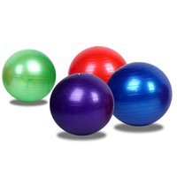 Wholesale 75cm Yoga BALL HOME GYM EXERCISE BALANCE PILATES EQUIPMENT FITNESS BALL colors to select air pump