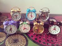 antique desk calendar - Cheap vintage clockwork mechanical alarm clock Mini models retro nostalgia alarm clock desk clock horseshoe sound
