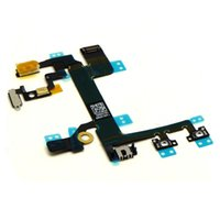 Wholesale 100 Original On Off Flex Power Cable Mute Volume Button Switch Connector Flex Cable Ribbon for iphone S
