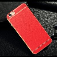 best bumper plates - iphone plus case luxury business PU leather pattern cases electroplating plating Frame Bumper cover for iphone s se s plus best