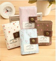 Wholesale Korean creative floral pastoral mood card package cloth card package name card clip custom key bag