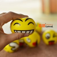 Wholesale 12pcs Modern FUN Emoji Face Squeeze Balls Stress Relax Emotional Hand Wrist Exercise Stress Toy Balls Toy