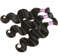 Wholesale Brazilian Body Wave Hair Bulk High Grade Hair Weave Grade A Human Hair Extension Unprocessed Mix Length PC Brazilian Hair Weave
