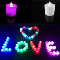 Wholesale Christmas lights cm Battery operated Flicker Flameless LED Tealight Tea Candles Light Wedding Birthday Party Christmas Decoration