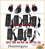 Wholesale YON AC100 V to DC12V V A A A A A A A Switching Power Supply Adapter with EU AU UK US Plug for Led Strips