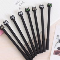Wholesale Large Black Cat Neutral Pen Hit South Korea Stationery Cute Cartoon Cat Pen School Supplies Stationery Students Pens