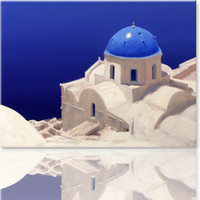 Cheap 1 PCS Set Modern Aegean Sea Painting, Modern Wall Oil Art, Bedroom Home Print on Canvas