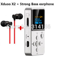 bass wav - with strong bass earphone gift Newest version XDUOO X2 HIFI MP3 digital Music Player with OLED Screen MP3 WMA APE FLAC WAV Authorize Agent