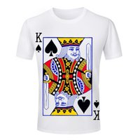 ace tees - Funny King Ace Queen Jack Playing Cards Poker TShirt Printed T shirts Short Sleeve Unique Men T Shirts New Tees