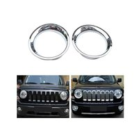 Wholesale For Jeep Patriot Chrome Headlight Cover Trim Guard