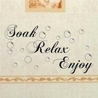 bathroom tile for sale - Hot Sale Soak Relax Enjoy Rremovable Wall Sticker Black Bathroom Tile Sticker Bubble