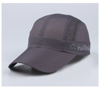 baseball cap brim material - 2016 Summer Adjustable Quick Drying Waterproof Material Fluorescence Color Baseball Cap Sports Alpine Cap