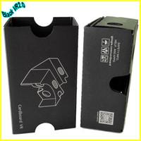 Wholesale In business NEW VR2 Google Cardboard Black vr Google D glasses generation2 VR glasses for inch phones DIY assembly novelty INBEHVG002