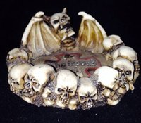 antique ashtrays - Skull ashtray resin crafts antique ashtray creative personality suit for beer bar ktv as gift to friends