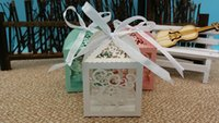 bamboo wrapping paper - 2016 New Laser Cut deer Wedding favor box Candy Box party show candy box deer gift box wedding favors and gifts