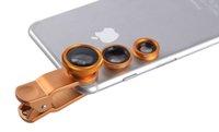 Wholesale ZK30 in1 Clip Fisheye Fisheye Wide Angle Macro Universal Mobile Phone Lens for Samsung iphone s Plus Sony Xiaomi